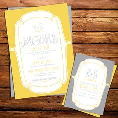 Kxo Design: NEW YELLOW & GREY WEDDING INVITATIONS
