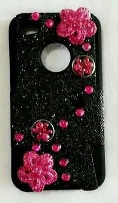 Iphone 4 Cell Phone Cases, Iphone 4, Deco, Handmade, Hand Made, Phone Case, Decor, Deko, Decorating