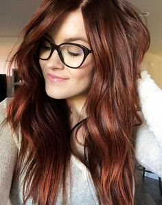 13 Gorgeous Fall Hair Colors to Try : The Best Hair Color Trends for Fall - Cabello Rubio Ombre Hair, Hair Color Balayage, Hair Highlights, Auburn Highlights, Auburn Balayage, Copper Highlights On Brown Hair, Dark Auburn Hair Color, Red Hair Color, Cool Hair Color