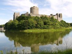 Pembroke Castle. In the late-12th century this castle was handed over to the famous English knight William Marshall, who transformed its design, including the addition of a round keep. It was also the birthplace of the future King Henry VII of England.