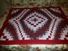 Toalha patchwork/bargello