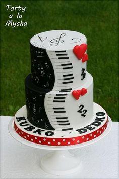 musical cake for 2 men