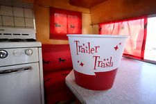 Red Trailer Trash  for  Vintage Canned Ham Shasta Travel Trailers