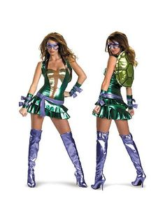 Here's an exciting first look at the new Sexy Teenage Mutant Ninja Turtles Costumes! The original sexy Ninja Turtle costume was very popular in Now we Sexy Halloween Costumes, Cool Costumes, Adult Costumes, Costumes For Women, Costume Ideas, Halloween 2013, Halloween Party, Ninja Costumes, Costume Box