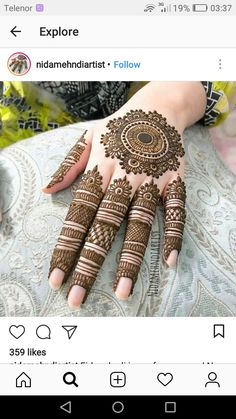 Indian Henna Designs, Floral Henna Designs, Henna Art Designs, Mehndi Designs 2018, Modern Mehndi Designs, Mehndi Designs For Girls, Mehndi Designs For Fingers, Dulhan Mehndi Designs, Beautiful Henna Designs