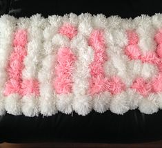 Pom Pom rug by BespokebyKat on Etsy Diy Pom Pom Rug, Pom Pom Crafts, Yarn Crafts, Etsy Crafts, Crafts To Sell, Diy And Crafts, Arts And Crafts, Homemade Rugs, Wool Dolls