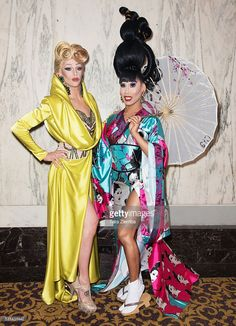 Laganja Estranja and Gia Gunn attend the finale of Logo's 'RuPaul's Drag Race' Season 8 at The Orpheum Theatre on May 10, 2016 in Los Angeles, California.