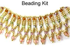 Necklace Kit Beading Jewelry Making Netted Net by SimpleBeadKits