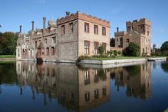 Oxburgh Hall, Oxborough, Norfolk,  a moated country house in Oxborough, was built around 1482.