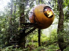 My treehouse (or The round Free Spirit Spheres in Canada)