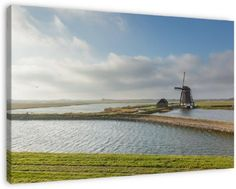 Molen het Noorden, Texel op canvas, dibond of (ingelijste) poster print.