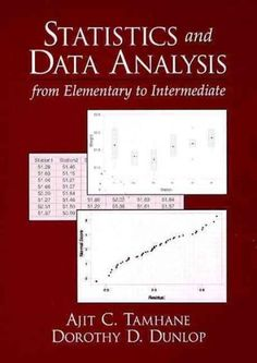 Introducing the concepts and methods of modern statistics with an emphasis on computer assisted data analysis, the book focuses on interpretation of results rather than their computation. Review of pr