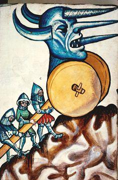 Konrad Kyeser, Bellifortis. German, 1st half of the 15th century. Besançon - BM - ms. 1360, f. 010.