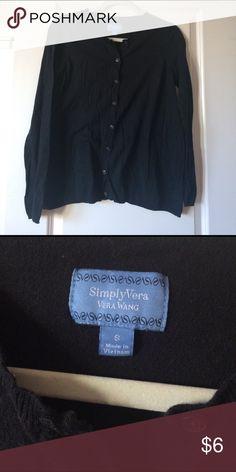 Vera Wang black cardigan Vera Wang black cardigan. Black. Size small. Perfect condition. Simply Vera Vera Wang Sweaters Cardigans