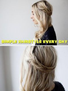 Simple hairstyle EVERY DAY