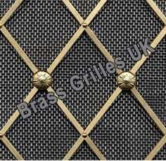 Regency Decorative Brass Grille with Stainless Steel Mesh Backing - 41mm Diamonds