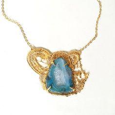 Agate Gemstone Necklace Handmade-11 Main