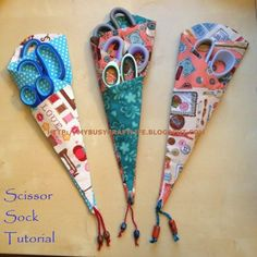 My busy craft life: Scissor Sock Tutorial