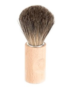 A beautiful handmade shaving brush with Maple wood handle and pure badger hair. Badger is renowned for producing excellent lather and it's softness against the skin.