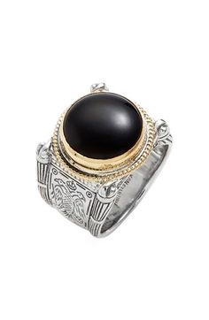 Konstantino 'Minos' Etched Black Onyx Ring available at #Nordstrom