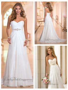 Sweetheart Criss-cross Ruched Bodice Simple Wedding Dresses http://www.ckdress.com/sweetheart-crisscross-ruched-bodice-simple-  wedding-dresses-p-2027.html  #wedding #dresses #dress #lightindream #lightindreaming #wed #clothing   #gown #weddingdresses #dressesonline #dressonline #bride