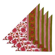 Napkins Set Of 4 Linen Fabric Floral Indian Decorations Spring by ShalinCraft, http://www.amazon.co.uk/dp/B00BJ1KJGY/ref=cm_sw_r_pi_dp_6WQhtb0QGT33S