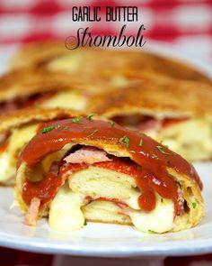 Garlic Butter Stromboli | Plain Chicken