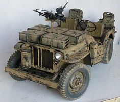 Jeep Willys, Jeep 4x4, Army Vehicles, Armored Vehicles, Zombie Survival Vehicle, Afrika Corps, Military Jeep, Jeep Mods, Model Cars Kits