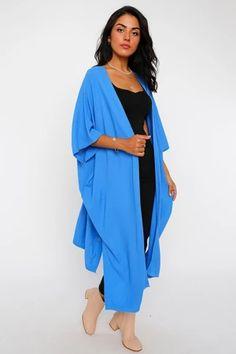Women's Batwing Sleeves Shabby Blue Cardigan – Blushgreece.shop Blue Cardigan, Batwing Sleeve, Bat Wings, Duster Coat, Kimono Top, Shabby, Sari, Model, Sleeves