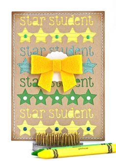 Congratulations Card by #thecardkiosk #congratulationscard #starstudentscard #studentaward #studentoftheweek #goodgrades #studentrecognition #schoolcard #etsyshop #etsyseller #etsy #handmadecards