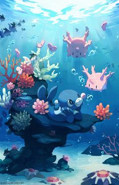 """bluekomadori: """" Popplio fanart! I might or might not draw the other s&m starters, I'll think about it… my art is also on: dA pixiv instagram facebook redbubble (prints etc) """""""