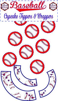 Free Baseball Cupcak