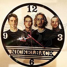 VINYL WALL CLOCK NICKELBACK