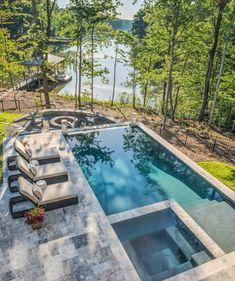 Swimming Pool Landscaping, Luxury Swimming Pools, Luxury Pools, Swimming Pools Backyard, Dream Pools, Swimming Pool Designs, Small Swimming Pools, Luxury Landscaping, Small Backyard Patio