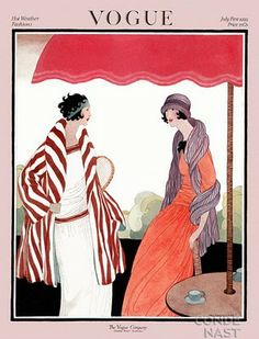 Art Deco Fashion Drawings by Helen Dryden (1887-1981)