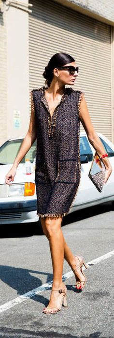 Easy elegance. looks like a 'go to' dress for summer to me :) Nyfw