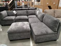 Best 6 Piece Modular Fabric Sectional Costco Dream Home 400 x 300