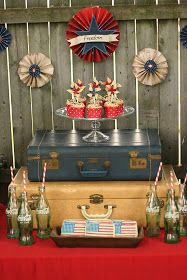 Cammi Lee Events: Party Inspiration: Vintage WWII Inspired 4th of July Dessert Table