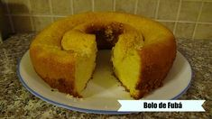 Brazilian Cornmeal Cake - Bolo de Fubá Cornbread, Cake, Facebook, Ethnic Recipes, Youtube, Food, Millet Bread, Kuchen, Essen