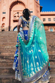 Best Garden Decorations Tips and Tricks You Need to Know - Modern Indian Wedding Lehenga, Indian Gowns, Indian Attire, Indian Wear, Indian Weddings, Bridal Lehenga, Indian Bridal Outfits, Indian Bridal Fashion, Asian Fashion