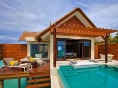 The Maldives is a classic choice for newlyweds, and the Niyama resort is no exception. The studios are more akin to floating houses than suites. Each comes with a private pool, open-air bathroom and large decks with steps down to the warm Indian Ocean.