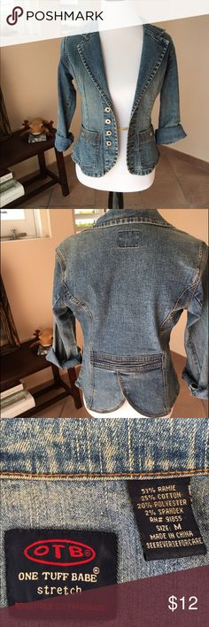 Jean Jacket Good condition.  Any questions?? Make me offer. Thanks for view my closet! One Tuff Babe (OTB) Jackets & Coats Jean Jackets