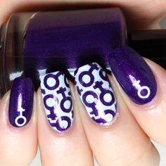 International women's day nails