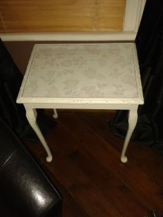 Take one brown table and transform with paint