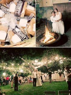 We're having a fire after the reception instead of a dance. The smores ideas are kinda cute :P