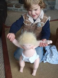 Tobias' waldorf baby doll reserved for catherine wilson
