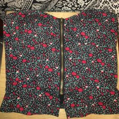 Floral Zip Up Tube Top Re-posh because it's too small for me! Urban Outfitters Tops Blouses