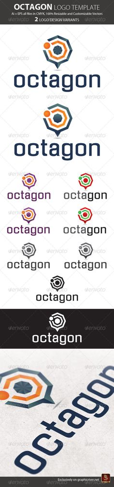 Octagon Logo Template — Vector EPS #abstract logo #logo • Available here → https://graphicriver.net/item/octagon-logo-template/665809?ref=pxcr