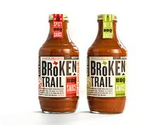 Broken Trail BBQ Sauce  - The Dieline -