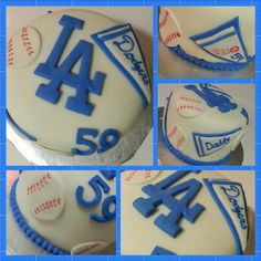 LA Dodger Birthday Cake! by LD Cakes n Cupcakes! Dodgers Cake, Dodgers Baseball, Jack Fitzgerald, Yummy Recipes, Yummy Food, Cupcake Cakes, Cupcakes, Birthday Ideas, Birthday Cake